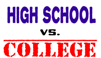 difference between high school and university check writing company
